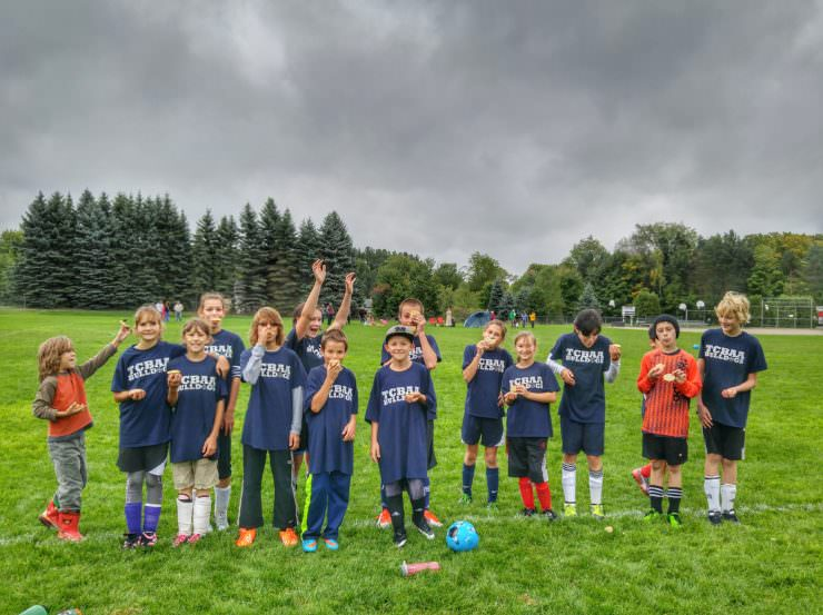 silly soccer team pie photo