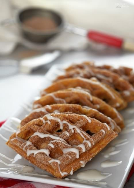 Pumpkin Churro Waffles