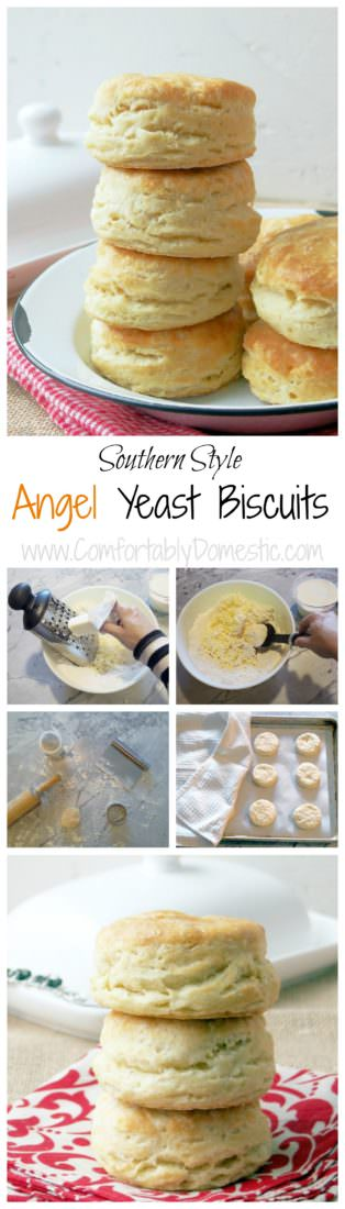 Angel-Yeast-Biscuits-are-southern-style-biscuits made with plenty of butter and four types of leavening so that they come out extra light and fluffy every time.