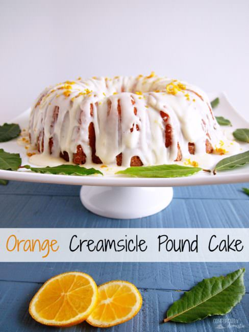 Orange-Creamsicle-Pound-Cake marries zesty orange pound cake with creamy vanilla icing that's reminiscent of the favorite frozen treat of childhood.