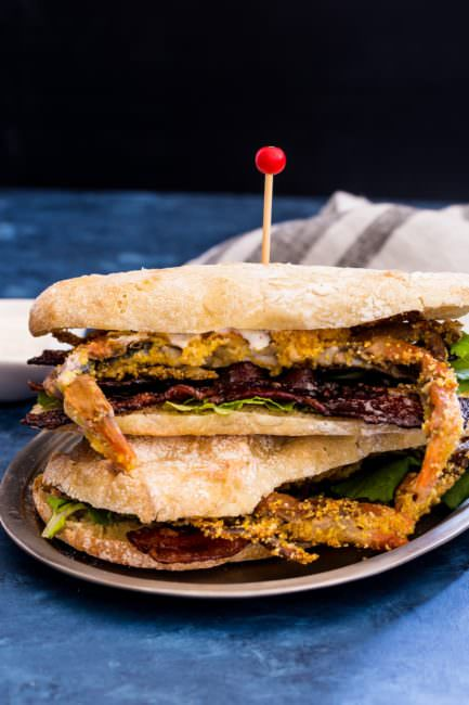 Weekly-Menu-Plan Week 8 is full of such fresh summer recipes as chopped chicken salad, lemon grilled shrimp, vegan chili, soft shell crab BLT, and a burger that'll knock your socks off! A fab coffee cake and fruity tasty beverage round out the week with pizzazz.