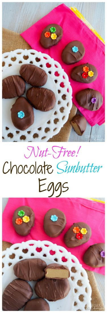 Chocolate-Sunbutter-Eggs are allergy friendly and super delicious. Perfect for Easter baskets!