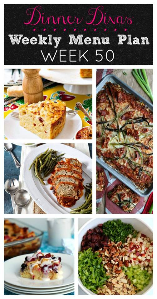 Weekly-Menu-Plan Week 50 is here just in time for Easter and the week following. You'll find easy weeknight dinners  and brunch ideas, along with two very Easter-y desserts on the menu this week.