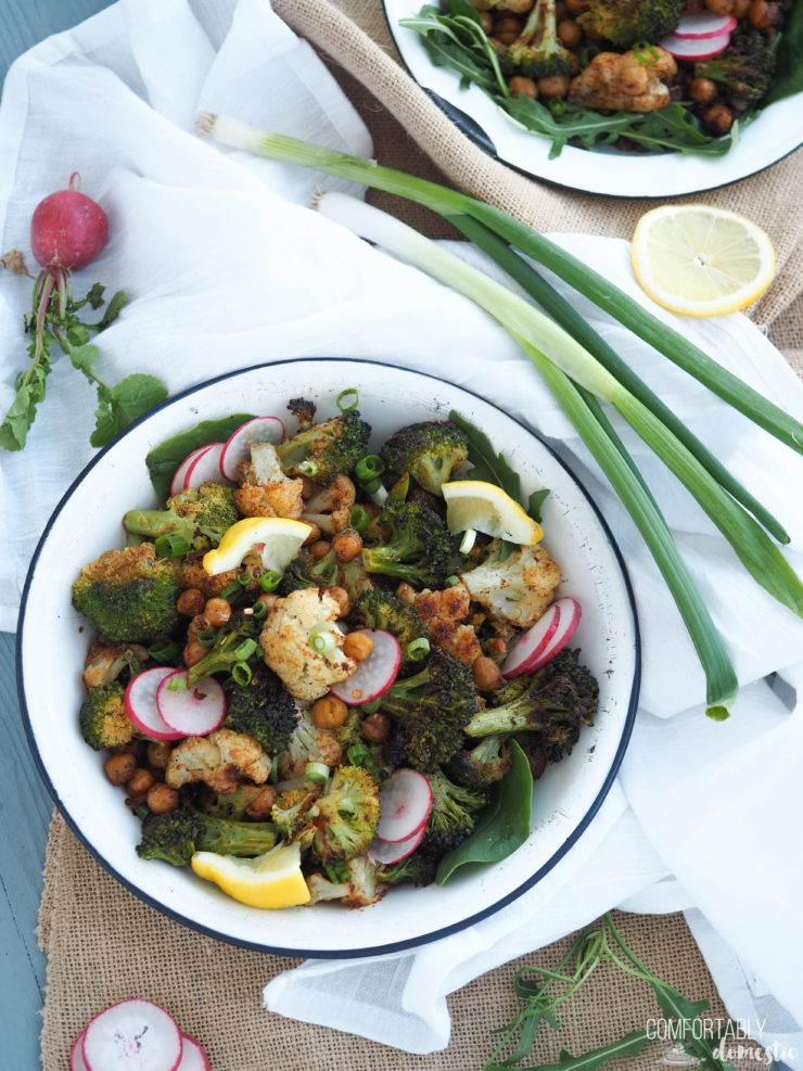 Moroccan-Roasted-Veggie-Power-Bowls are full of nourishing vegetables seasoned with powerful spices to boost the nutrition.