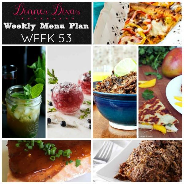 Weekly-Menu-Plan-Week-53 covers healthy, easy, and comforting recipes, along with a couple of Kentucky Derby themed cocktails to round out the week.