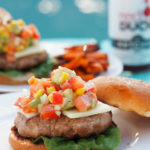 Spicy-Chipotle-Turkey-Burgers marry lean ground turkey with the smoky heat of chipotle peppers and spices. The Roasted Corn and Avocado Salsa adds the perfect amount of sass to this for a healthy, flavorful burger.