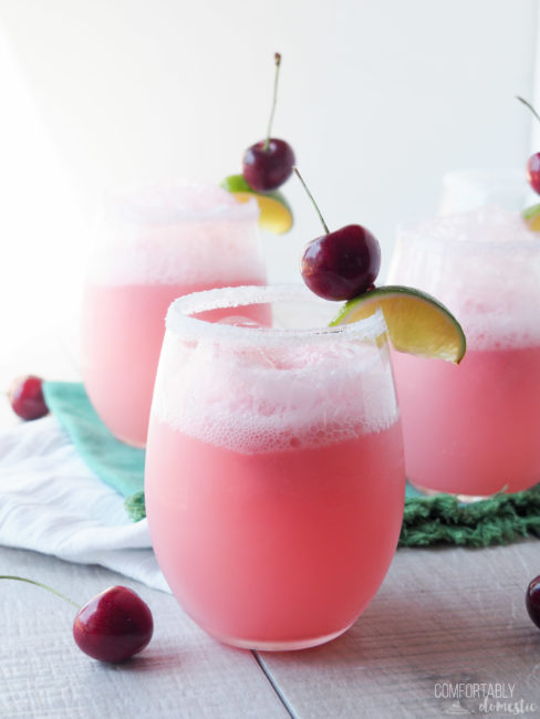 Cherry Lime Bellini – #summerdessertsweek