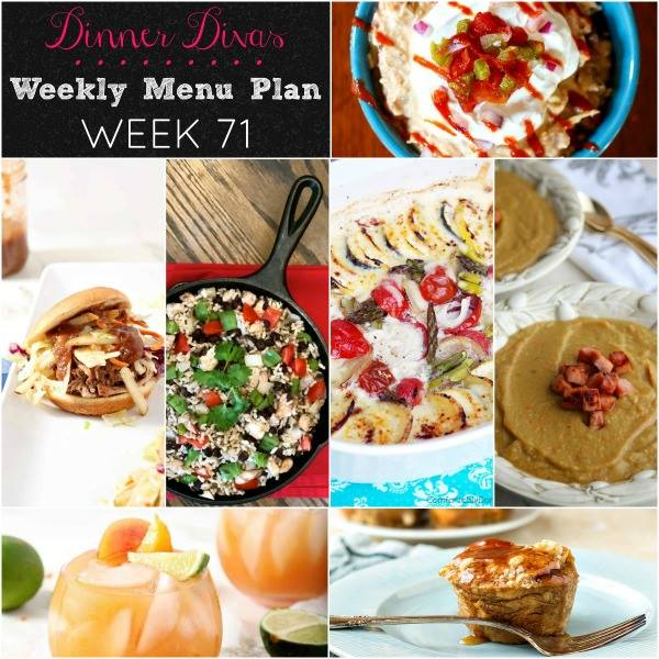 Weekly-Menu-Plan Week 71 contains a wide variety of flavors to suit any lifestyle, making use of vibrant summer vegetables, in season Hatch chiles, a couple of speedy Instant Pot recipes, and much more!
