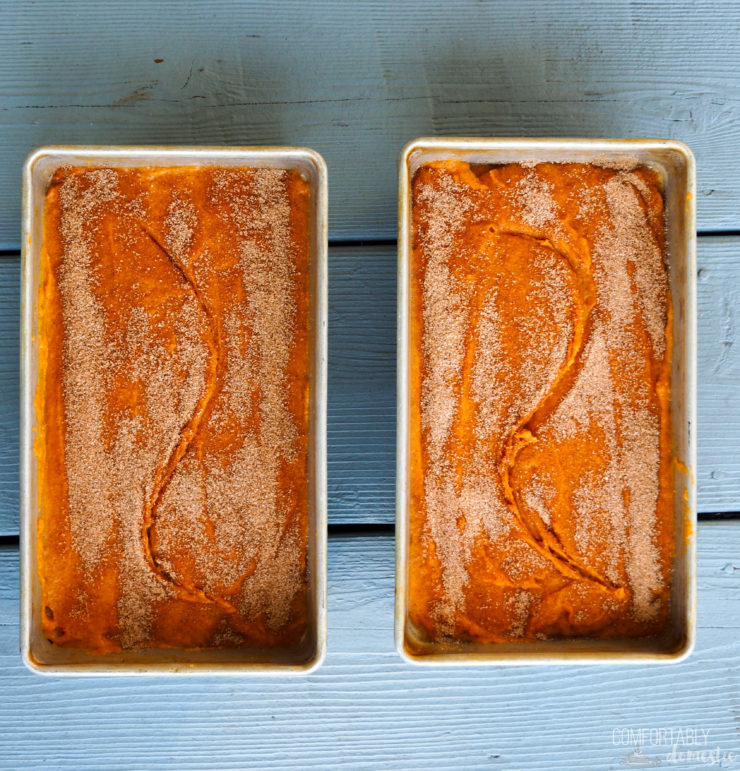 The-Best-Pumpkin Bread is full of pure pumpkin puree to keep it soft, loaded with just enough warm spices, and a crisp topper to invoke that comforting feeling of Fall.