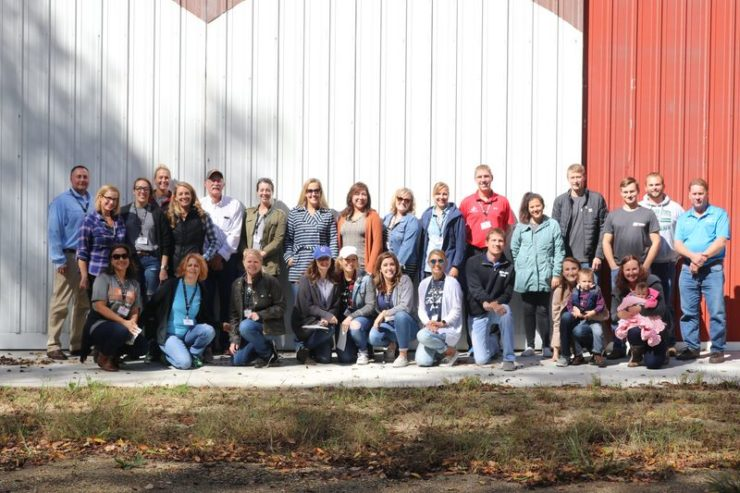 group-of-bloggers-standing-in-front-of-a-barn