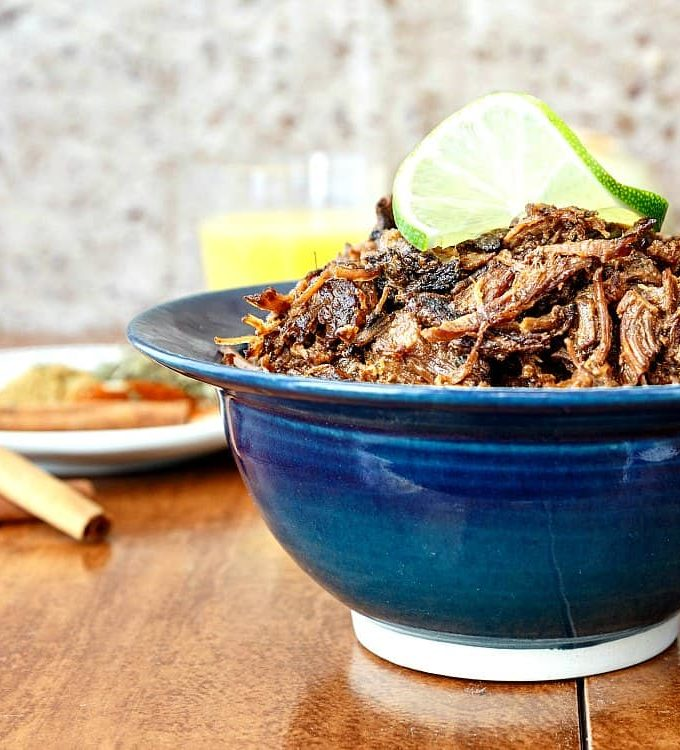 beef-carnitas-in-a-blue-bowl