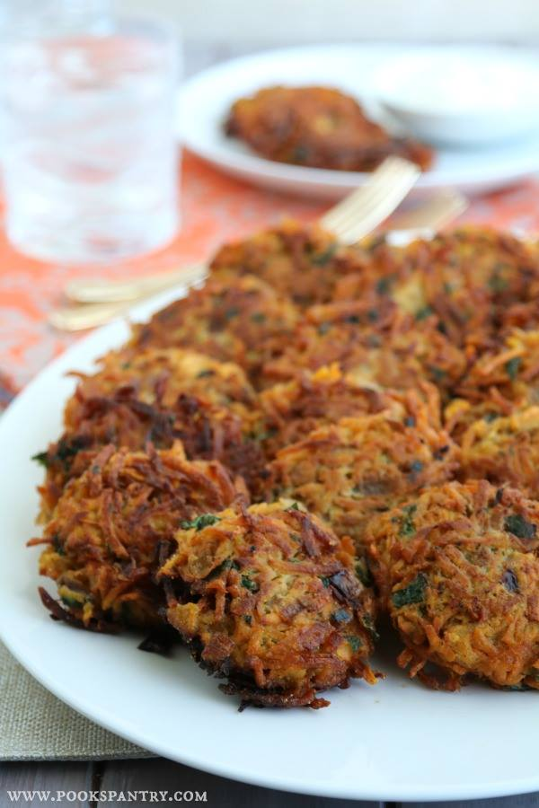sweet-potato-veggie-cakes-on-a-white-plate
