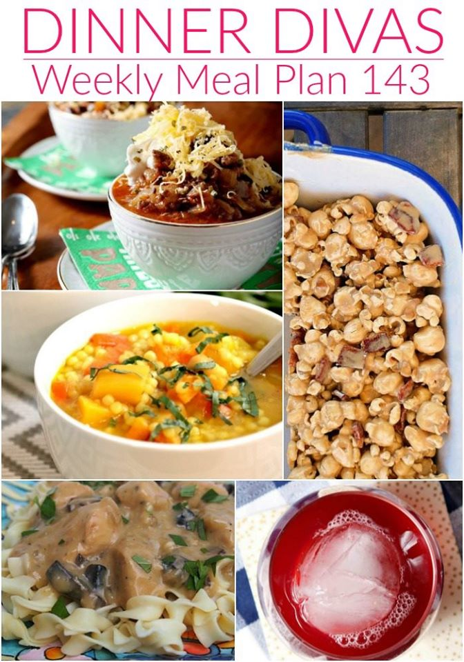 weekly menu plan 143 collage of recipes offered.